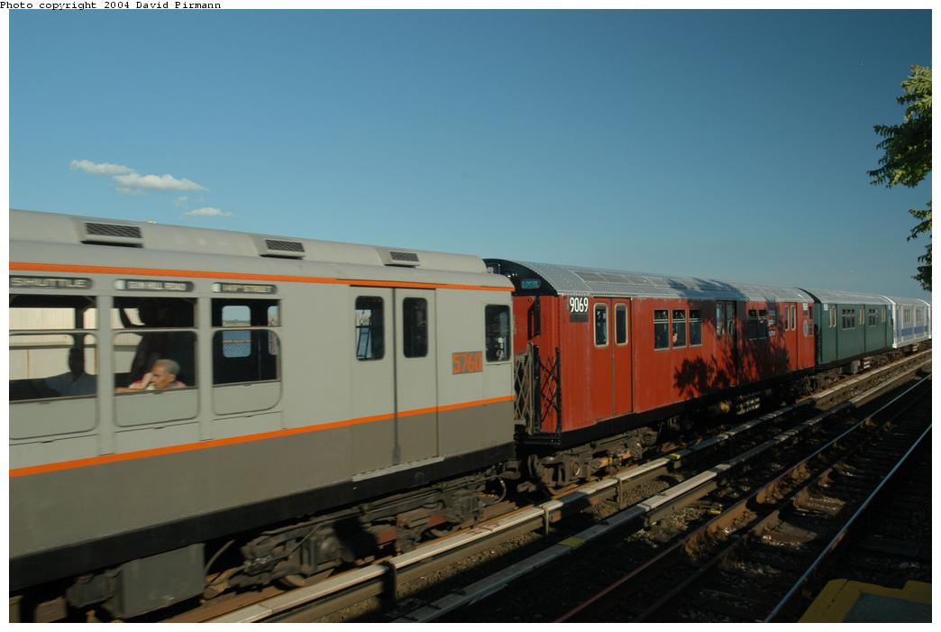 (119k, 1044x701)<br><b>Country:</b> United States<br><b>City:</b> New York<br><b>System:</b> New York City Transit<br><b>Line:</b> IND Rockaway<br><b>Location:</b> Broad Channel <br><b>Route:</b> Fan Trip<br><b>Car:</b> R-33 Main Line (St. Louis, 1962-63) 9069 <br><b>Photo by:</b> David Pirmann<br><b>Date:</b> 6/19/2004<br><b>Viewed (this week/total):</b> 0 / 2242