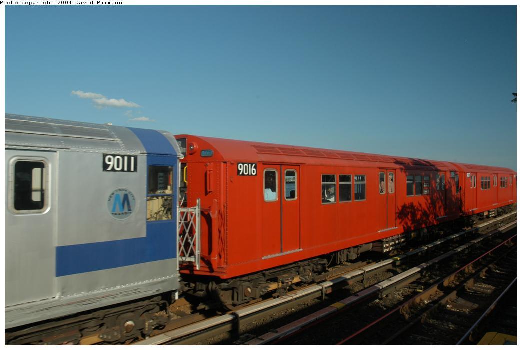 (118k, 1044x701)<br><b>Country:</b> United States<br><b>City:</b> New York<br><b>System:</b> New York City Transit<br><b>Line:</b> IND Rockaway<br><b>Location:</b> Broad Channel <br><b>Route:</b> Fan Trip<br><b>Car:</b> R-33 Main Line (St. Louis, 1962-63) 9016 <br><b>Photo by:</b> David Pirmann<br><b>Date:</b> 6/19/2004<br><b>Viewed (this week/total):</b> 2 / 2279