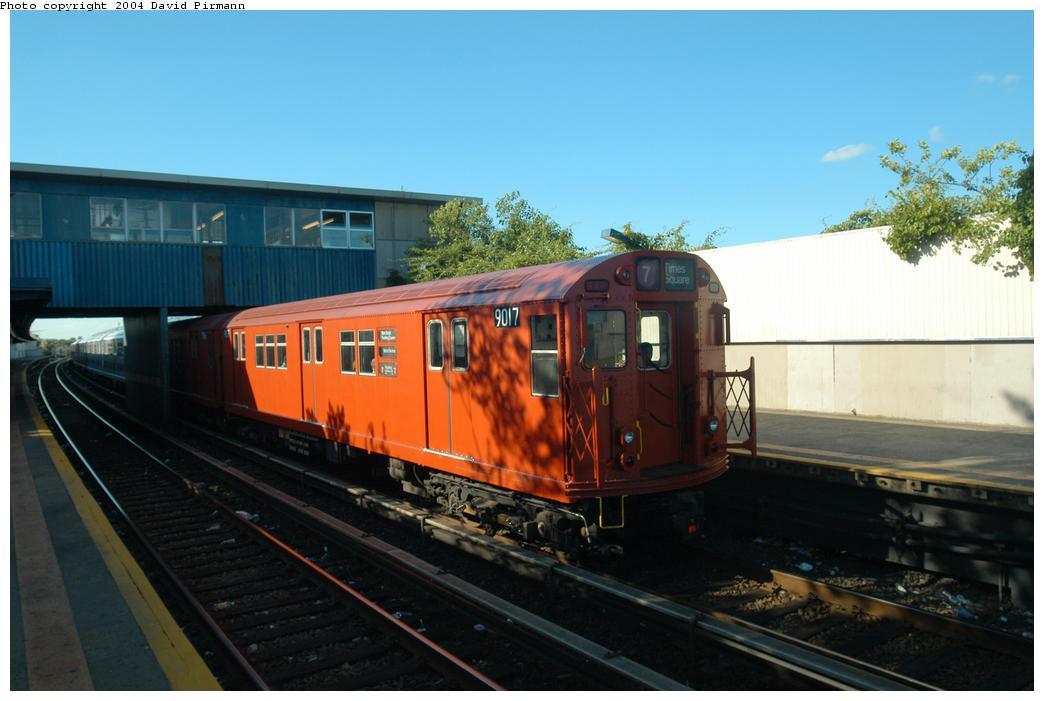 (137k, 1044x701)<br><b>Country:</b> United States<br><b>City:</b> New York<br><b>System:</b> New York City Transit<br><b>Line:</b> IND Rockaway<br><b>Location:</b> Broad Channel <br><b>Route:</b> Fan Trip<br><b>Car:</b> R-33 Main Line (St. Louis, 1962-63) 9017 <br><b>Photo by:</b> David Pirmann<br><b>Date:</b> 6/19/2004<br><b>Viewed (this week/total):</b> 0 / 2524