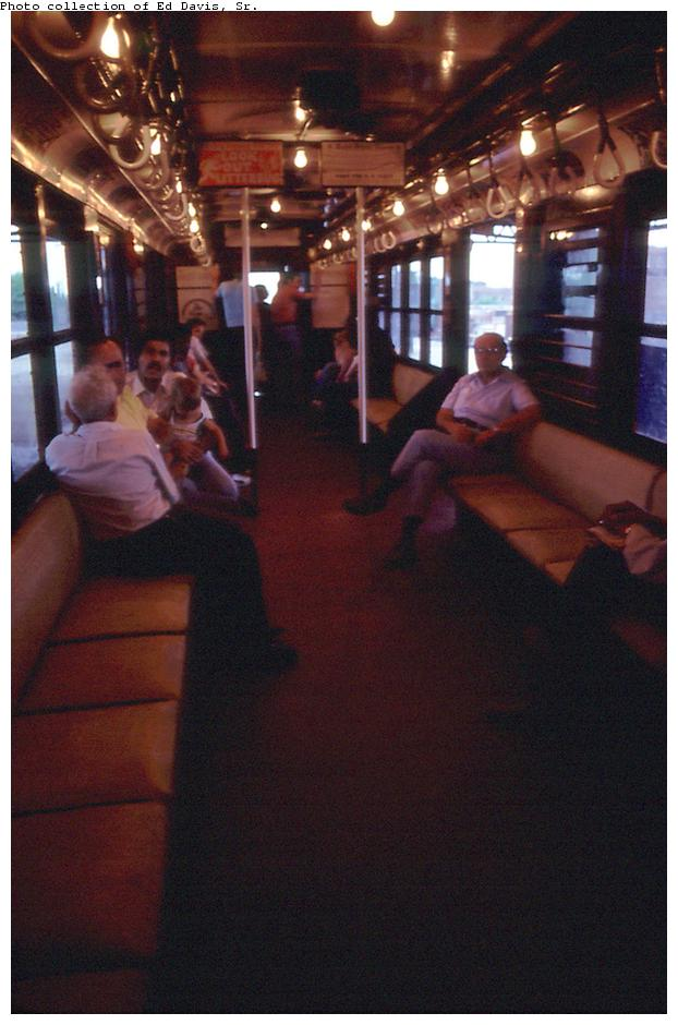 (79k, 622x940)<br><b>Country:</b> United States<br><b>City:</b> New York<br><b>System:</b> New York City Transit<br><b>Route:</b> Fan Trip<br><b>Car:</b> Low-V (Museum Train) Interior <br><b>Photo by:</b> Ed Davis, Sr.<br><b>Collection of:</b> David Pirmann<br><b>Date:</b> 7/1979<br><b>Viewed (this week/total):</b> 1 / 1826