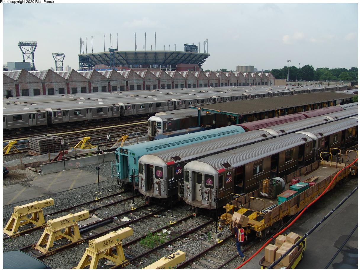 (117k, 820x620)<br><b>Country:</b> United States<br><b>City:</b> New York<br><b>System:</b> New York City Transit<br><b>Location:</b> Corona Yard<br><b>Route:</b> 7<br><b>Car:</b> R-62A (Bombardier, 1984-1987)  1651 <br><b>Photo by:</b> Richard Panse<br><b>Date:</b> 6/19/2004<br><b>Viewed (this week/total):</b> 0 / 4046