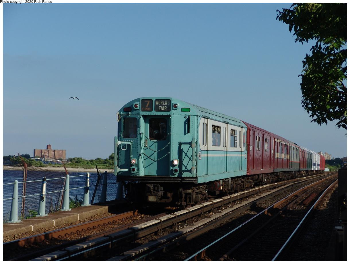 (83k, 820x620)<br><b>Country:</b> United States<br><b>City:</b> New York<br><b>System:</b> New York City Transit<br><b>Line:</b> IND Rockaway<br><b>Location:</b> Broad Channel <br><b>Route:</b> Fan Trip<br><b>Car:</b> R-33 World's Fair (St. Louis, 1963-64) 9306 <br><b>Photo by:</b> Richard Panse<br><b>Date:</b> 6/19/2004<br><b>Viewed (this week/total):</b> 1 / 2505