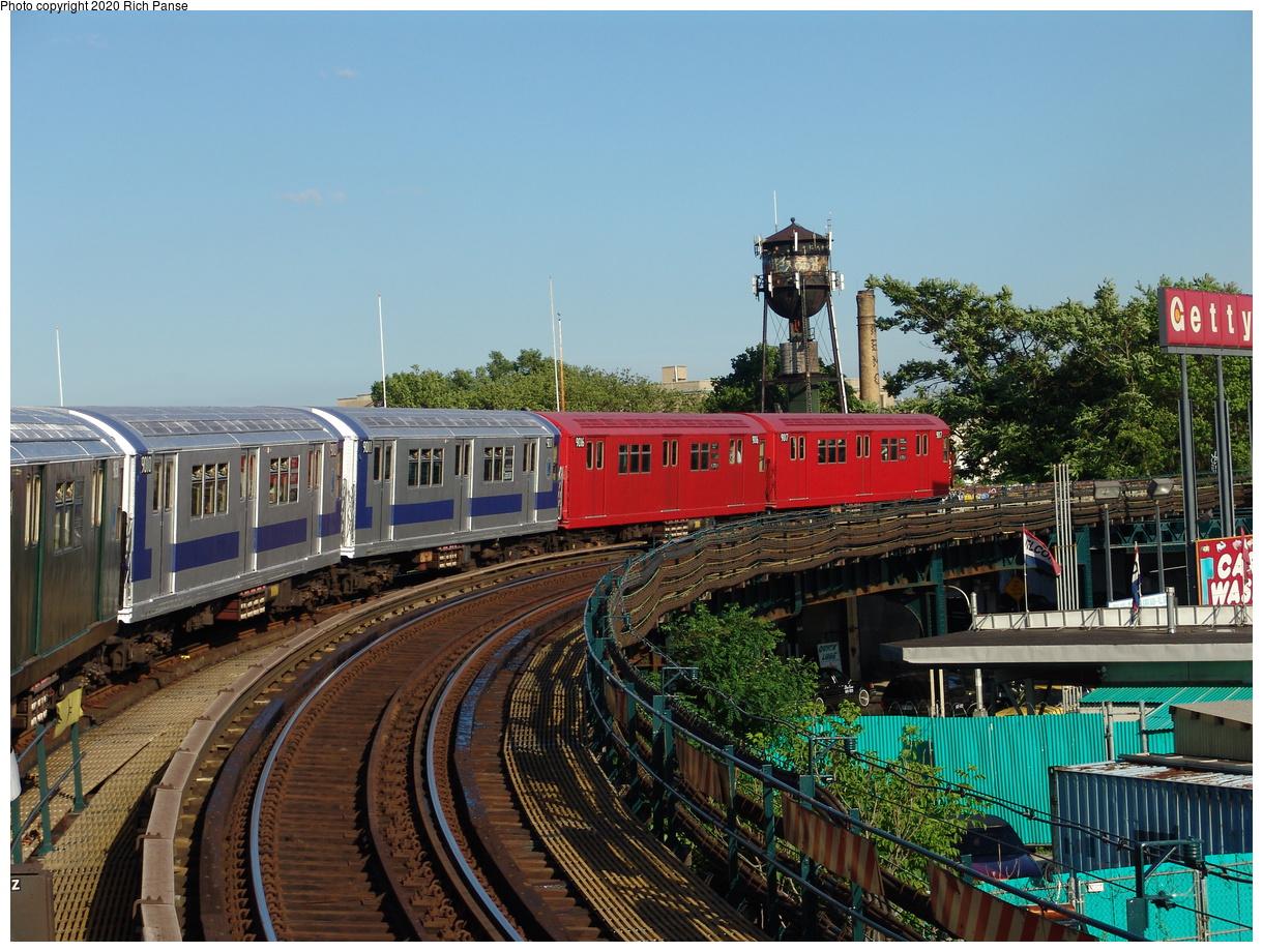 (109k, 820x620)<br><b>Country:</b> United States<br><b>City:</b> New York<br><b>System:</b> New York City Transit<br><b>Line:</b> IND Fulton Street Line<br><b>Location:</b> Rockaway Boulevard <br><b>Route:</b> Fan Trip<br><b>Car:</b> R-33 Main Line (St. Louis, 1962-63) 9010-9011-9016-9017 <br><b>Photo by:</b> Richard Panse<br><b>Date:</b> 6/19/2004<br><b>Viewed (this week/total):</b> 1 / 3920