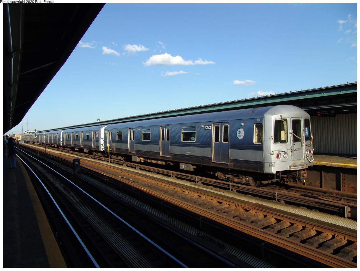 (83k, 820x620)<br><b>Country:</b> United States<br><b>City:</b> New York<br><b>System:</b> New York City Transit<br><b>Line:</b> IND Fulton Street Line<br><b>Location:</b> Rockaway Boulevard <br><b>Route:</b> A<br><b>Car:</b> R-44 (St. Louis, 1971-73) 5232 <br><b>Photo by:</b> Richard Panse<br><b>Date:</b> 6/19/2004<br><b>Viewed (this week/total):</b> 0 / 3010