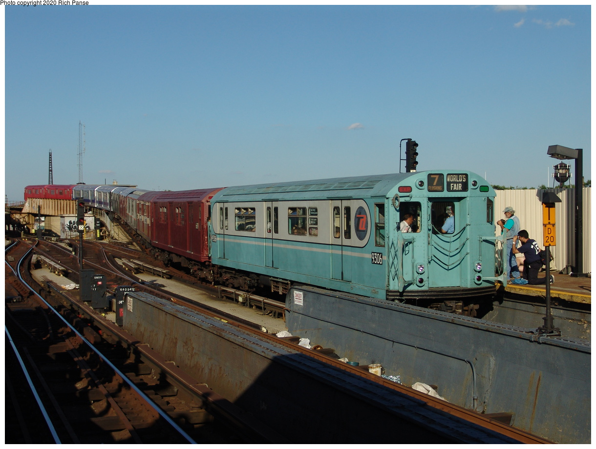 (77k, 820x620)<br><b>Country:</b> United States<br><b>City:</b> New York<br><b>System:</b> New York City Transit<br><b>Line:</b> IND Fulton Street Line<br><b>Location:</b> Rockaway Boulevard <br><b>Route:</b> Fan Trip<br><b>Car:</b> R-33 World's Fair (St. Louis, 1963-64) 9306 <br><b>Photo by:</b> Richard Panse<br><b>Date:</b> 6/19/2004<br><b>Viewed (this week/total):</b> 0 / 2844