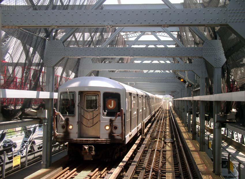 (128k, 850x623)<br><b>Country:</b> United States<br><b>City:</b> New York<br><b>System:</b> New York City Transit<br><b>Line:</b> BMT Nassau Street/Jamaica Line<br><b>Location:</b> Williamsburg Bridge<br><b>Route:</b> J<br><b>Car:</b> R-42 (St. Louis, 1969-1970)   <br><b>Photo by:</b> Christopher Sattler<br><b>Date:</b> 6/23/2004<br><b>Viewed (this week/total):</b> 1 / 4442