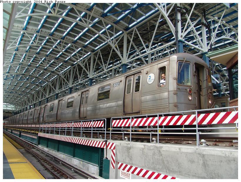(154k, 820x620)<br><b>Country:</b> United States<br><b>City:</b> New York<br><b>System:</b> New York City Transit<br><b>Location:</b> Coney Island/Stillwell Avenue<br><b>Route:</b> Q<br><b>Car:</b> R-68A (Kawasaki, 1988-1989)  5112 <br><b>Photo by:</b> Richard Panse<br><b>Date:</b> 6/13/2004<br><b>Viewed (this week/total):</b> 0 / 3861