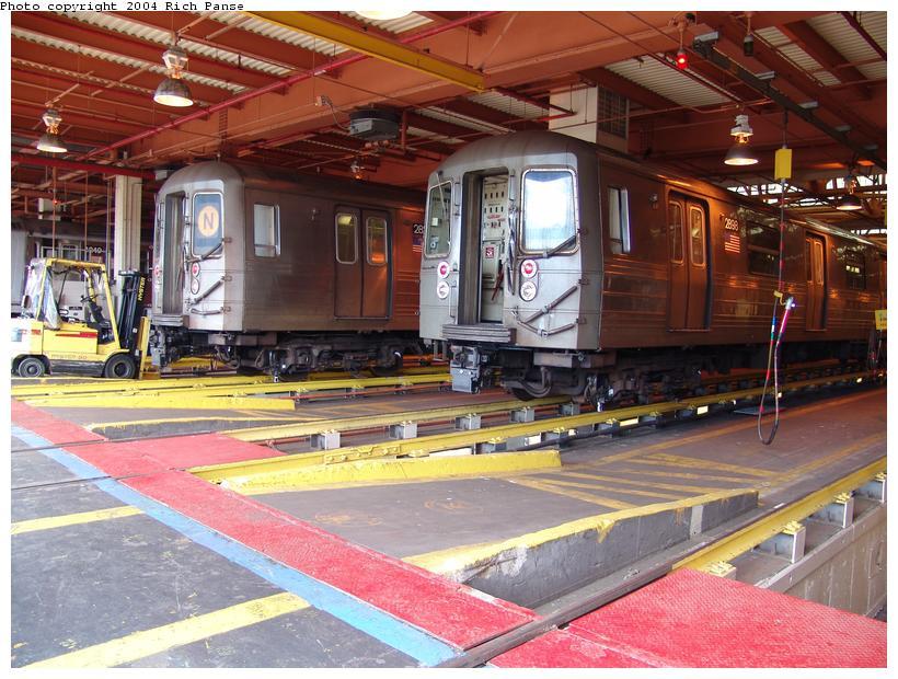 (122k, 820x620)<br><b>Country:</b> United States<br><b>City:</b> New York<br><b>System:</b> New York City Transit<br><b>Location:</b> Coney Island Shop/Overhaul & Repair Shop<br><b>Car:</b> R-68 (Westinghouse-Amrail, 1986-1988)  2899 <br><b>Photo by:</b> Richard Panse<br><b>Date:</b> 6/13/2004<br><b>Viewed (this week/total):</b> 0 / 3801