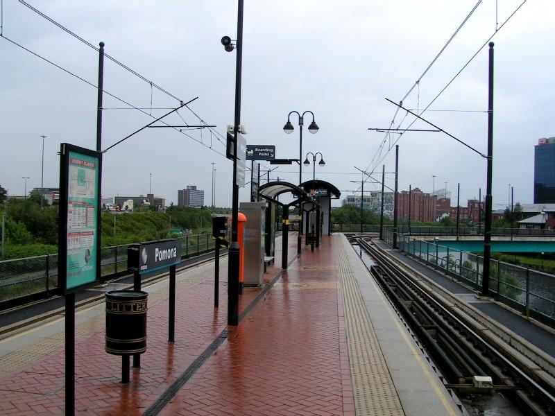 (130k, 800x600)<br><b>Country:</b> United Kingdom<br><b>City:</b> Manchester<br><b>System:</b> Metrolink <br><b>Line:</b> Eccles line<br><b>Location:</b> Pomona <br><b>Photo by:</b> Tim Deakin<br><b>Date:</b> 7/10/2004<br><b>Viewed (this week/total):</b> 1 / 1945