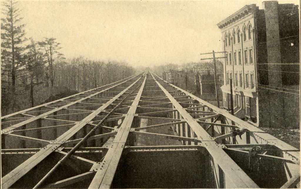 (192k, 1024x643)<br><b>Country:</b> United States<br><b>City:</b> New York<br><b>System:</b> New York City Transit<br><b>Photo by:</b> <i>Subway Souvenir</i>-Burroughs & Co.<br><b>Notes:</b> Viaduct, Westchester Avenue<br><b>Viewed (this week/total):</b> 3 / 5014