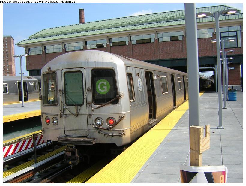 (124k, 820x620)<br><b>Country:</b> United States<br><b>City:</b> New York<br><b>System:</b> New York City Transit<br><b>Location:</b> Coney Island/Stillwell Avenue<br><b>Route:</b> G<br><b>Car:</b> R-46 (Pullman-Standard, 1974-75) 6126 <br><b>Photo by:</b> Robert Mencher<br><b>Date:</b> 7/10/2004<br><b>Viewed (this week/total):</b> 0 / 4416