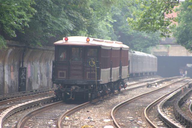 (54k, 640x427)<br><b>Country:</b> United States<br><b>City:</b> New York<br><b>System:</b> New York City Transit<br><b>Line:</b> BMT Brighton Line<br><b>Location:</b> Beverley Road <br><b>Route:</b> Fan Trip<br><b>Car:</b> BMT Elevated Gate Car 1404-1273-1407 <br><b>Photo by:</b> Steven Maier<br><b>Date:</b> 7/18/2004<br><b>Viewed (this week/total):</b> 1 / 4104