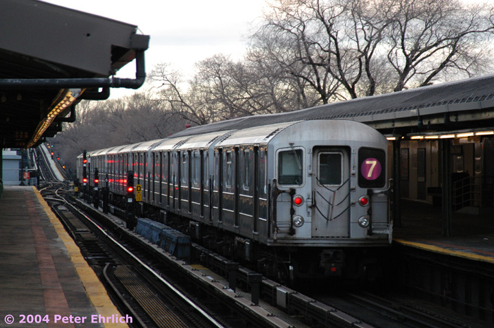 (162k, 720x478)<br><b>Country:</b> United States<br><b>City:</b> New York<br><b>System:</b> New York City Transit<br><b>Line:</b> IRT Flushing Line<br><b>Location:</b> Willets Point/Mets (fmr. Shea Stadium) <br><b>Route:</b> 7<br><b>Car:</b> R-62A (Bombardier, 1984-1987)  1795 <br><b>Photo by:</b> Peter Ehrlich<br><b>Date:</b> 12/25/2003<br><b>Viewed (this week/total):</b> 0 / 3146