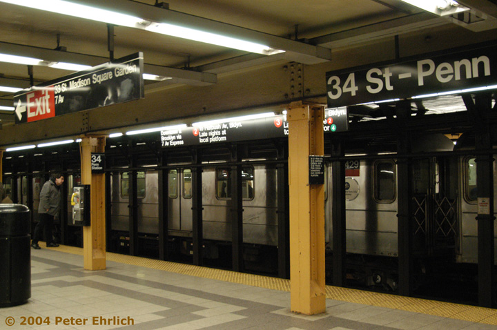 (144k, 720x478)<br><b>Country:</b> United States<br><b>City:</b> New York<br><b>System:</b> New York City Transit<br><b>Line:</b> IRT West Side Line<br><b>Location:</b> 34th Street/Penn Station <br><b>Route:</b> 3<br><b>Car:</b> R-62A (Bombardier, 1984-1987)  2429 <br><b>Photo by:</b> Peter Ehrlich<br><b>Date:</b> 12/25/2003<br><b>Viewed (this week/total):</b> 0 / 5275