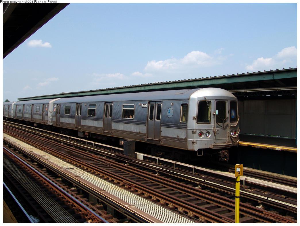(170k, 1044x788)<br><b>Country:</b> United States<br><b>City:</b> New York<br><b>System:</b> New York City Transit<br><b>Line:</b> IND Fulton Street Line<br><b>Location:</b> 80th Street/Hudson Street <br><b>Route:</b> A<br><b>Car:</b> R-44 (St. Louis, 1971-73) 5400 <br><b>Photo by:</b> Richard Panse<br><b>Date:</b> 7/17/2004<br><b>Viewed (this week/total):</b> 0 / 3634