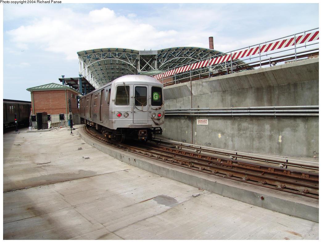 (159k, 1044x788)<br><b>Country:</b> United States<br><b>City:</b> New York<br><b>System:</b> New York City Transit<br><b>Location:</b> Coney Island/Stillwell Avenue<br><b>Route:</b> G<br><b>Car:</b> R-46 (Pullman-Standard, 1974-75) 5xxx <br><b>Photo by:</b> Richard Panse<br><b>Date:</b> 7/25/2004<br><b>Viewed (this week/total):</b> 0 / 5754