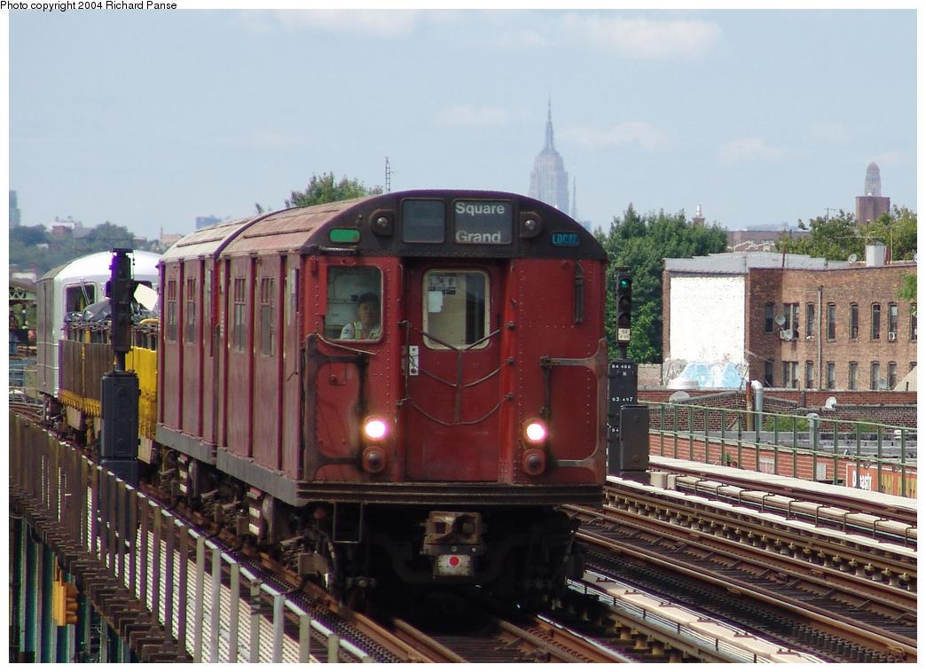 (168k, 1044x758)<br><b>Country:</b> United States<br><b>City:</b> New York<br><b>System:</b> New York City Transit<br><b>Line:</b> BMT Culver Line<br><b>Location:</b> Avenue I <br><b>Route:</b> Work Service<br><b>Car:</b> R-33 World's Fair (St. Louis, 1963-64) 9340 <br><b>Photo by:</b> Richard Panse<br><b>Date:</b> 7/25/2004<br><b>Viewed (this week/total):</b> 0 / 3900
