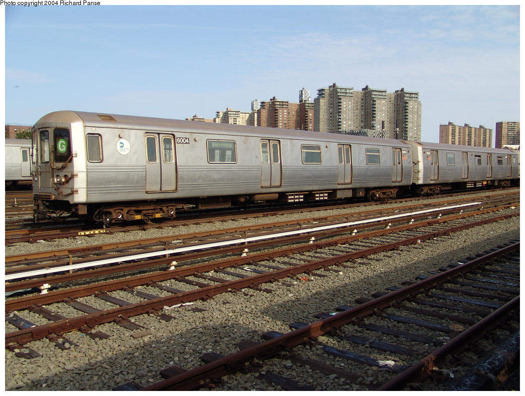 (197k, 1044x788)<br><b>Country:</b> United States<br><b>City:</b> New York<br><b>System:</b> New York City Transit<br><b>Location:</b> Coney Island Yard<br><b>Car:</b> R-46 (Pullman-Standard, 1974-75) 6004 <br><b>Photo by:</b> Richard Panse<br><b>Date:</b> 7/25/2004<br><b>Viewed (this week/total):</b> 0 / 4632