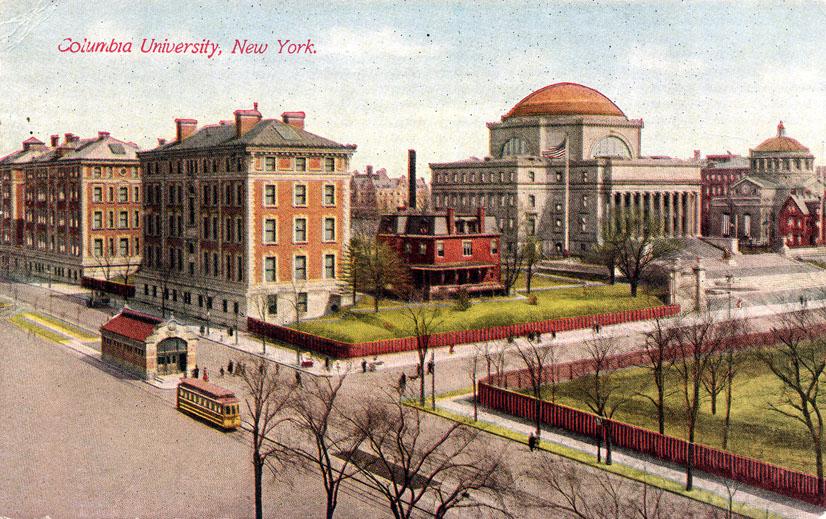 (205k, 826x519)<br><b>Country:</b> United States<br><b>City:</b> New York<br><b>System:</b> New York City Transit<br><b>Line:</b> IRT West Side Line<br><b>Location:</b> 116th Street/Columbia University <br><b>Collection of:</b> Ed Levine<br><b>Notes:</b> Postcard: Columbia University, New York<br><b>Viewed (this week/total):</b> 6 / 6663