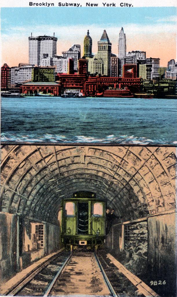 (263k, 611x1024)<br><b>Country:</b> United States<br><b>City:</b> New York<br><b>System:</b> New York City Transit<br><b>Line:</b> IRT Brooklyn Line<br><b>Location:</b> Borough Hall (East Side Branch) <br><b>Collection of:</b> David Pirmann<br><b>Notes:</b> Postcard: The Brooklyn Subway, New York<br><b>Viewed (this week/total):</b> 1 / 2816