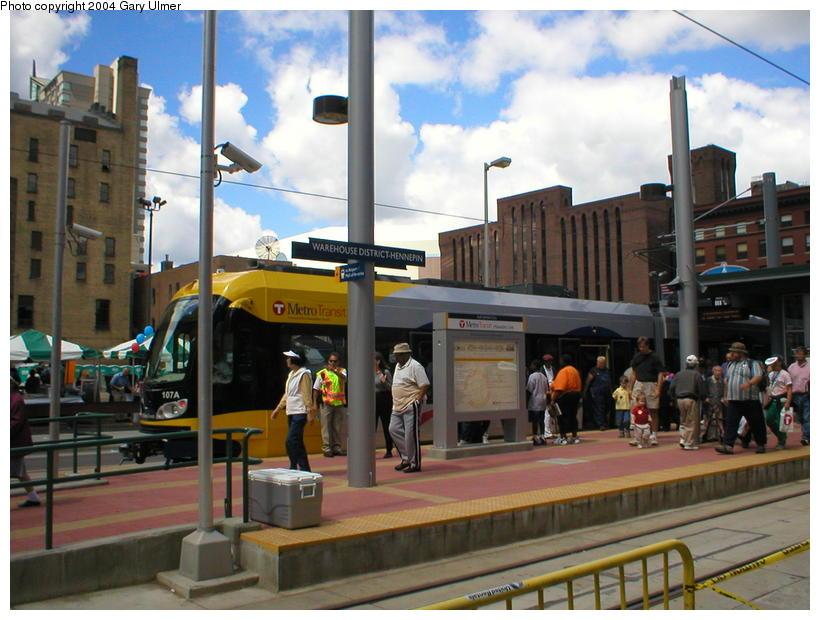 (101k, 820x620)<br><b>Country:</b> United States<br><b>City:</b> Minneapolis, MN<br><b>System:</b> MNDOT Light Rail Transit<br><b>Line:</b> Hiawatha Line<br><b>Location:</b> <b><u>Warehouse District/Hennepin Ave </b></u><br><b>Photo by:</b> Gary Ulmer<br><b>Date:</b> 6/24/2004<br><b>Viewed (this week/total):</b> 0 / 2689
