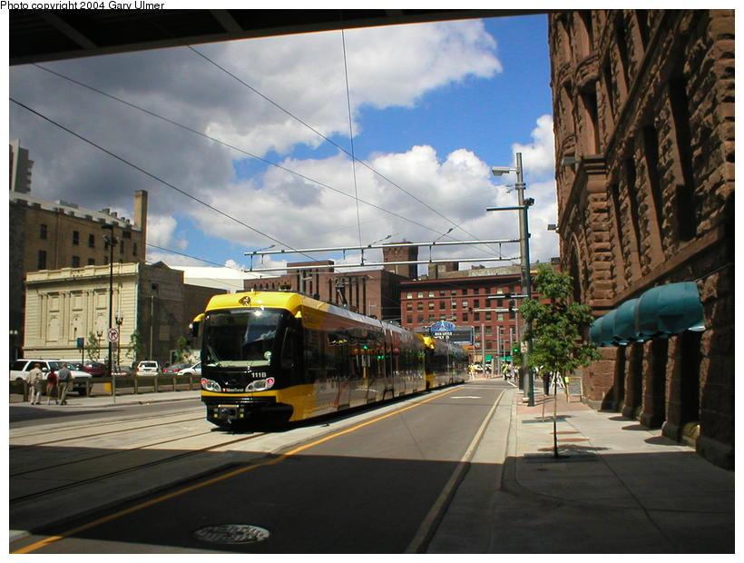 (101k, 820x620)<br><b>Country:</b> United States<br><b>City:</b> Minneapolis, MN<br><b>System:</b> MNDOT Light Rail Transit<br><b>Line:</b> Hiawatha Line<br><b>Location:</b> <b><u>Warehouse District/Hennepin Ave </b></u><br><b>Photo by:</b> Gary Ulmer<br><b>Date:</b> 6/24/2004<br><b>Viewed (this week/total):</b> 0 / 2937
