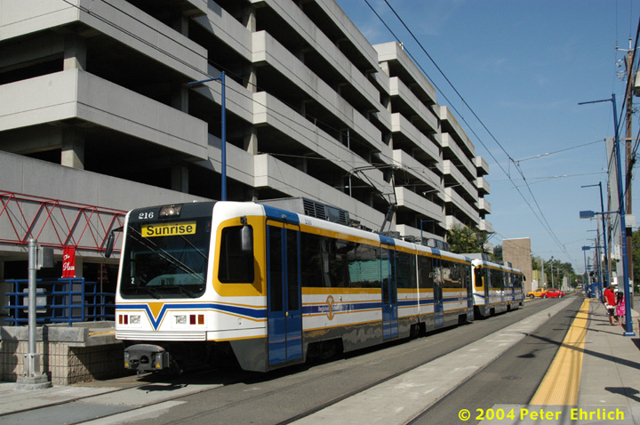 (164k, 720x478)<br><b>Country:</b> United States<br><b>City:</b> Sacramento, CA<br><b>System:</b> SACRT Light Rail<br><b>Location:</b> 16th Street <br><b>Car:</b> Sacramento CAF LRV  216 <br><b>Photo by:</b> Peter Ehrlich<br><b>Date:</b> 6/28/2004<br><b>Viewed (this week/total):</b> 0 / 1562