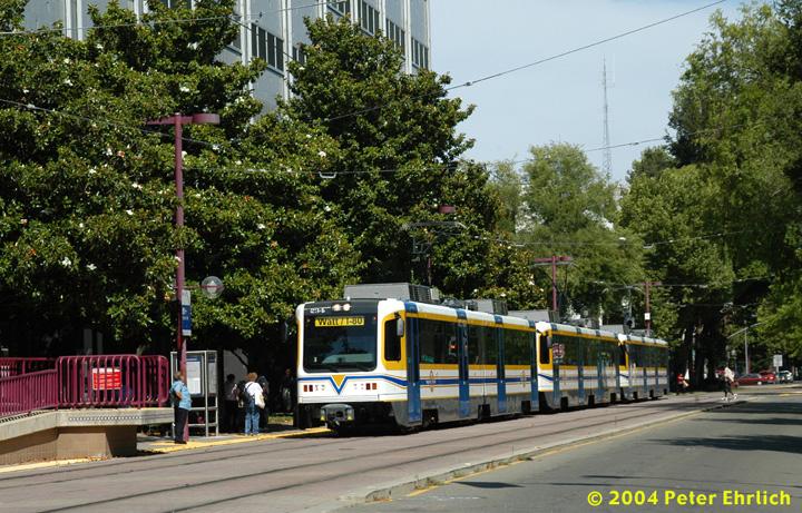 (222k, 720x461)<br><b>Country:</b> United States<br><b>City:</b> Sacramento, CA<br><b>System:</b> SACRT Light Rail<br><b>Location:</b> 8th & O <br><b>Car:</b> Sacramento CAF LRV  234 <br><b>Photo by:</b> Peter Ehrlich<br><b>Date:</b> 6/28/2004<br><b>Viewed (this week/total):</b> 1 / 1331