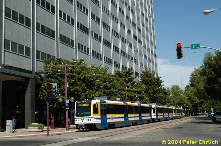(182k, 720x478)<br><b>Country:</b> United States<br><b>City:</b> Sacramento, CA<br><b>System:</b> SACRT Light Rail<br><b>Location:</b> 8th & O <br><b>Car:</b> Sacramento CAF LRV  234 <br><b>Photo by:</b> Peter Ehrlich<br><b>Date:</b> 6/28/2004<br><b>Viewed (this week/total):</b> 0 / 1450