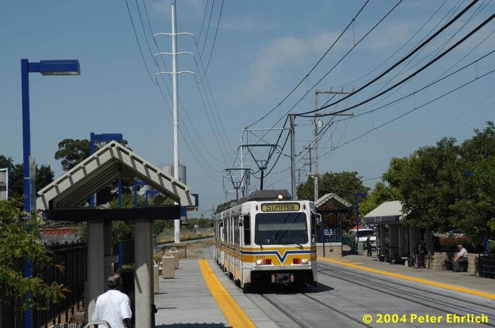 (146k, 720x478)<br><b>Country:</b> United States<br><b>City:</b> Sacramento, CA<br><b>System:</b> SACRT Light Rail<br><b>Location:</b> College Greens <br><b>Car:</b> Sacramento Siemens LRV  130 <br><b>Photo by:</b> Peter Ehrlich<br><b>Date:</b> 6/28/2004<br><b>Viewed (this week/total):</b> 2 / 1400