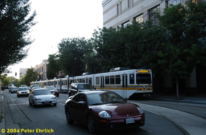 (153k, 720x470)<br><b>Country:</b> United States<br><b>City:</b> Sacramento, CA<br><b>System:</b> SACRT Light Rail<br><b>Location:</b> 12th & K <br><b>Car:</b> Sacramento Siemens LRV  110 <br><b>Photo by:</b> Peter Ehrlich<br><b>Date:</b> 6/28/2004<br><b>Viewed (this week/total):</b> 0 / 1675