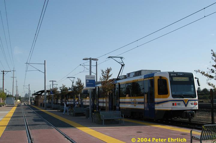 (120k, 720x478)<br><b>Country:</b> United States<br><b>City:</b> Sacramento, CA<br><b>System:</b> SACRT Light Rail<br><b>Location:</b> City College <br><b>Car:</b> Sacramento CAF LRV  204 <br><b>Photo by:</b> Peter Ehrlich<br><b>Date:</b> 6/28/2004<br><b>Viewed (this week/total):</b> 0 / 1541