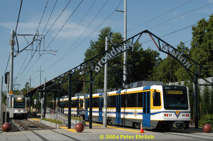 (177k, 720x478)<br><b>Country:</b> United States<br><b>City:</b> Sacramento, CA<br><b>System:</b> SACRT Light Rail<br><b>Location:</b> Broadway <br><b>Car:</b> Sacramento CAF LRV  229/233 <br><b>Photo by:</b> Peter Ehrlich<br><b>Date:</b> 6/28/2004<br><b>Viewed (this week/total):</b> 6 / 1530