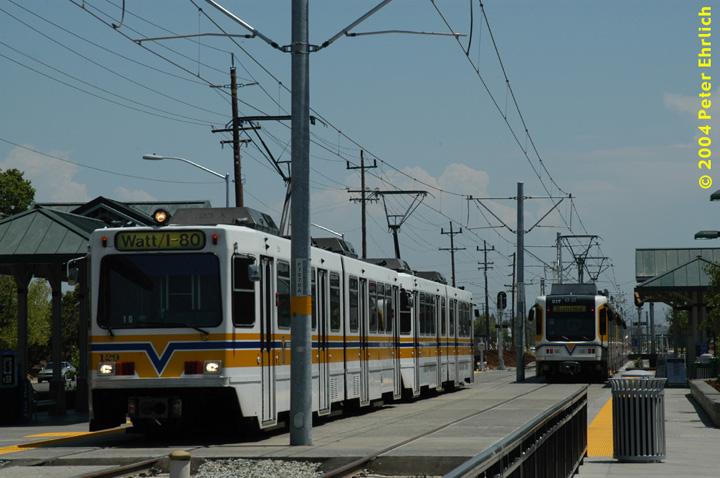 (131k, 720x478)<br><b>Country:</b> United States<br><b>City:</b> Sacramento, CA<br><b>System:</b> SACRT Light Rail<br><b>Location:</b> Sunrise <br><b>Car:</b> Sacramento Siemens LRV  129/217 <br><b>Photo by:</b> Peter Ehrlich<br><b>Date:</b> 6/28/2004<br><b>Viewed (this week/total):</b> 3 / 1292