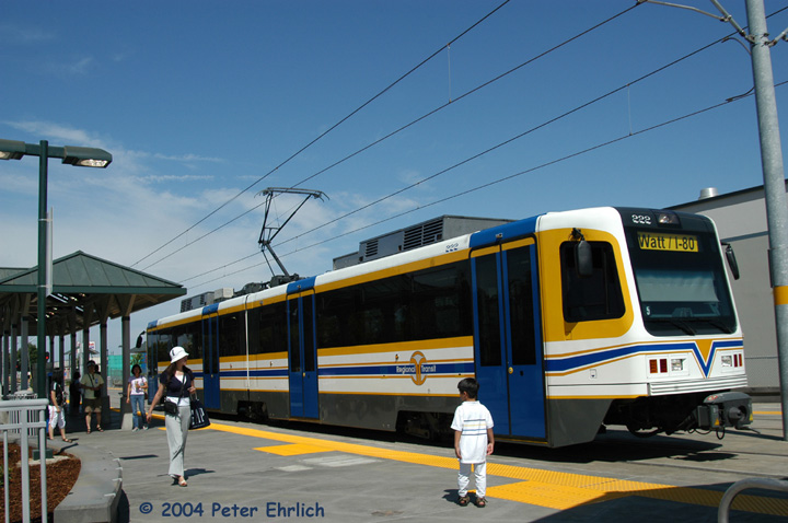 (135k, 720x478)<br><b>Country:</b> United States<br><b>City:</b> Sacramento, CA<br><b>System:</b> SACRT Light Rail<br><b>Location:</b> Sunrise <br><b>Car:</b> Sacramento CAF LRV  222 <br><b>Photo by:</b> Peter Ehrlich<br><b>Date:</b> 6/27/2004<br><b>Viewed (this week/total):</b> 0 / 1413
