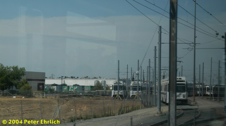 (81k, 720x404)<br><b>Country:</b> United States<br><b>City:</b> Sacramento, CA<br><b>System:</b> SACRT Light Rail<br><b>Location:</b> Swanston <br><b>Photo by:</b> Peter Ehrlich<br><b>Date:</b> 6/28/2004<br><b>Notes:</b> Sacramento Regional Transit purchased 21 used UTDC LRVs from Santa Clara VTA for use when future extensions to the Airport and on the South Line come into service.  They were built in 1987 and need to be modified for Sacramento service.<br><b>Viewed (this week/total):</b> 1 / 1909