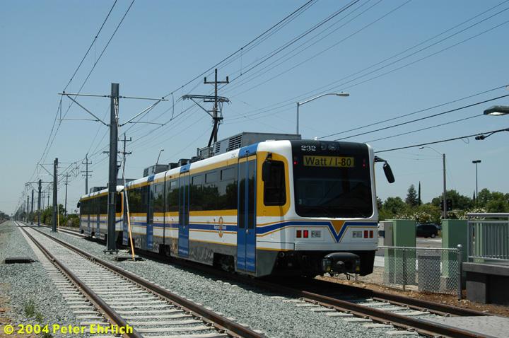 (151k, 720x478)<br><b>Country:</b> United States<br><b>City:</b> Sacramento, CA<br><b>System:</b> SACRT Light Rail<br><b>Location:</b> Zinfandel <br><b>Car:</b> Sacramento CAF LRV  232 <br><b>Photo by:</b> Peter Ehrlich<br><b>Date:</b> 6/28/2004<br><b>Viewed (this week/total):</b> 0 / 1439
