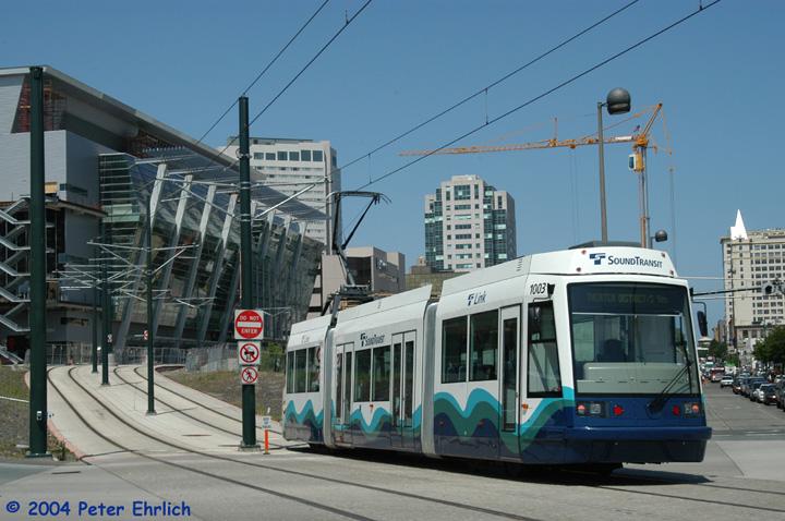 (143k, 720x478)<br><b>Country:</b> United States<br><b>City:</b> Tacoma, WA<br><b>System:</b> SoundTransit - Tacoma Link Light Rail<br><b>Location:</b> Pacific & 17th <br><b>Car:</b> Škoda/Inekon Astra 10T  1003 <br><b>Photo by:</b> Peter Ehrlich<br><b>Date:</b> 5/14/2004<br><b>Notes:</b> Inbound car at Pacific/17th.<br><b>Viewed (this week/total):</b> 1 / 3958