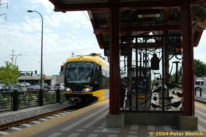(156k, 720x478)<br><b>Country:</b> United States<br><b>City:</b> Minneapolis, MN<br><b>System:</b> MNDOT Light Rail Transit<br><b>Line:</b> Hiawatha Line<br><b>Location:</b> <b><u>38th Street </b></u><br><b>Car:</b> Bombardier Flexity Swift  102 <br><b>Photo by:</b> Peter Ehrlich<br><b>Date:</b> 8/2/2004<br><b>Viewed (this week/total):</b> 1 / 1516