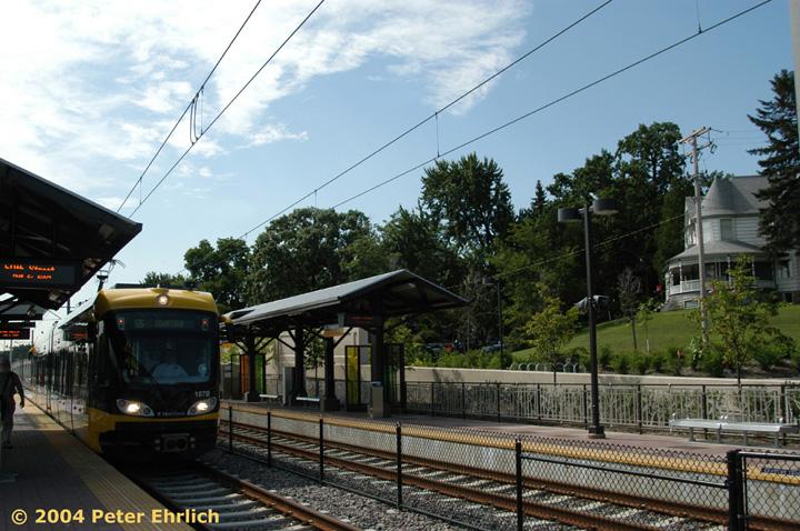 (176k, 720x478)<br><b>Country:</b> United States<br><b>City:</b> Minneapolis, MN<br><b>System:</b> MNDOT Light Rail Transit<br><b>Line:</b> Hiawatha Line<br><b>Location:</b> <b><u>50th Street/Minnehaha Park </b></u><br><b>Car:</b> Bombardier Flexity Swift  107 <br><b>Photo by:</b> Peter Ehrlich<br><b>Date:</b> 8/2/2004<br><b>Viewed (this week/total):</b> 1 / 1474