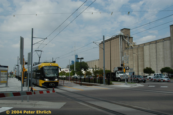 (124k, 720x478)<br><b>Country:</b> United States<br><b>City:</b> Minneapolis, MN<br><b>System:</b> MNDOT Light Rail Transit<br><b>Line:</b> Hiawatha Line<br><b>Location:</b> <b><u>38th Street </b></u><br><b>Car:</b> Bombardier Flexity Swift  109 <br><b>Photo by:</b> Peter Ehrlich<br><b>Date:</b> 8/2/2004<br><b>Viewed (this week/total):</b> 1 / 1720