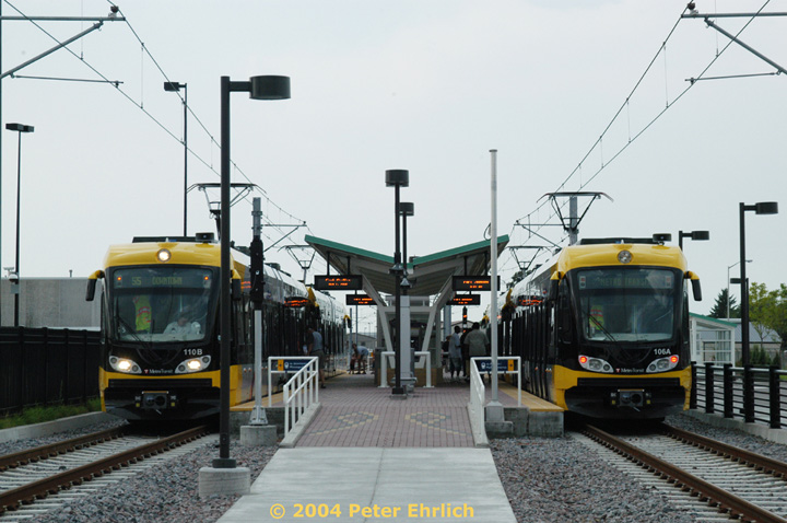 (132k, 720x478)<br><b>Country:</b> United States<br><b>City:</b> Minneapolis, MN<br><b>System:</b> MNDOT Light Rail Transit<br><b>Line:</b> Hiawatha Line<br><b>Location:</b> <b><u>Fort Snelling </b></u><br><b>Car:</b> Bombardier Flexity Swift  110/106 <br><b>Photo by:</b> Peter Ehrlich<br><b>Date:</b> 8/1/2004<br><b>Viewed (this week/total):</b> 0 / 1965