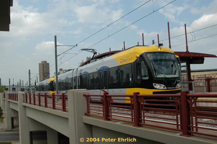 (130k, 720x478)<br><b>Country:</b> United States<br><b>City:</b> Minneapolis, MN<br><b>System:</b> MNDOT Light Rail Transit<br><b>Line:</b> Hiawatha Line<br><b>Location:</b> <b><u>Franklin Avenue </b></u><br><b>Car:</b> Bombardier Flexity Swift  110 <br><b>Photo by:</b> Peter Ehrlich<br><b>Date:</b> 8/2/2004<br><b>Viewed (this week/total):</b> 0 / 1854