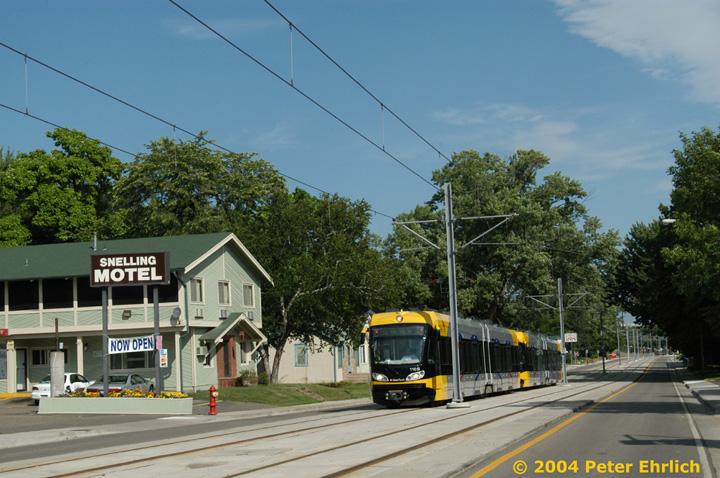 (160k, 720x478)<br><b>Country:</b> United States<br><b>City:</b> Minneapolis, MN<br><b>System:</b> MNDOT Light Rail Transit<br><b>Line:</b> Hiawatha Line<br><b>Location:</b> Minnehaha Avenue/54th Street <br><b>Car:</b> Bombardier Flexity Swift  110 <br><b>Photo by:</b> Peter Ehrlich<br><b>Date:</b> 8/1/2004<br><b>Viewed (this week/total):</b> 1 / 2066