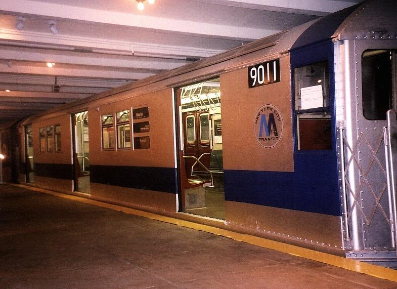 (83k, 785x571)<br><b>Country:</b> United States<br><b>City:</b> New York<br><b>System:</b> New York City Transit<br><b>Location:</b> New York Transit Museum<br><b>Car:</b> R-33 Main Line (St. Louis, 1962-63) 9011 <br><b>Photo by:</b> Gary Chatterton<br><b>Date:</b> 7/15/2004<br><b>Viewed (this week/total):</b> 0 / 6111