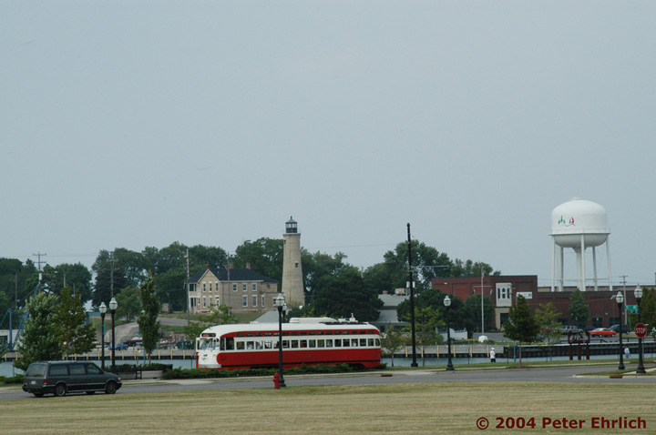 (95k, 720x478)<br><b>Country:</b> United States<br><b>City:</b> Kenosha, WI<br><b>System:</b> Kenosha Electric Railway<br><b>Location:</b> 54th St. & 5th Ave. (Westbound) <br><b>Car:</b> PCC (TTC Toronto) 4609 <br><b>Photo by:</b> Peter Ehrlich<br><b>Date:</b> 7/30/2004<br><b>Notes:</b> Looking northeast from 55th Street/5th Avenue.<br><b>Viewed (this week/total):</b> 0 / 2590