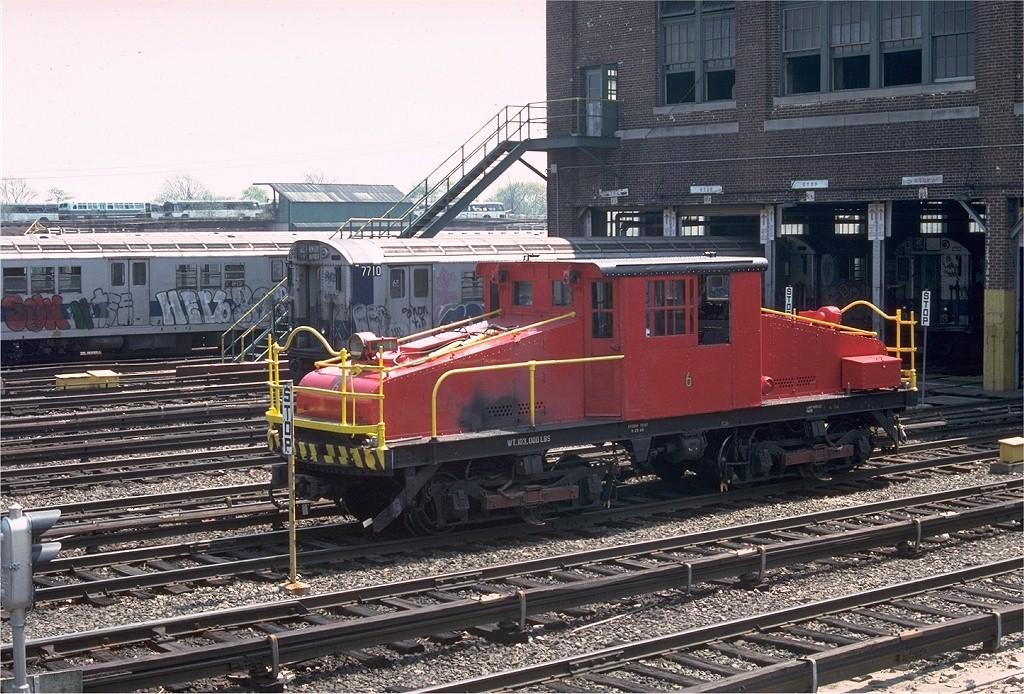 (264k, 1024x694)<br><b>Country:</b> United States<br><b>City:</b> New York<br><b>System:</b> New York City Transit<br><b>Location:</b> 239th Street Yard<br><b>Car:</b> SBK Steeplecab 6 <br><b>Photo by:</b> Doug Grotjahn<br><b>Collection of:</b> Joe Testagrose<br><b>Date:</b> 4/17/1976<br><b>Viewed (this week/total):</b> 3 / 2985