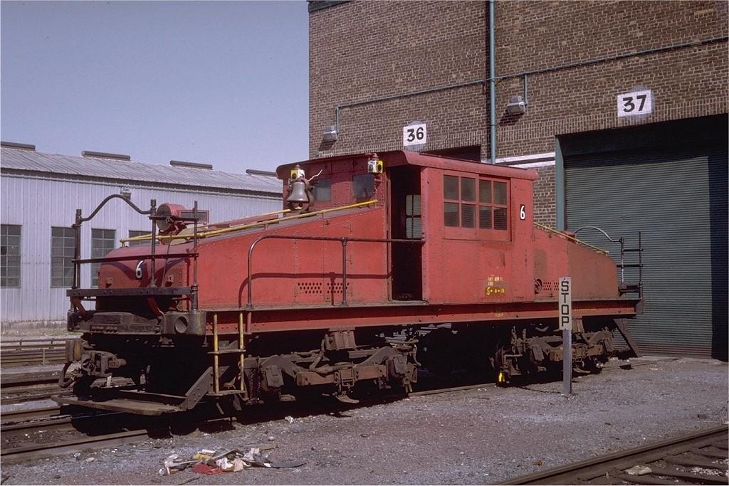 (232k, 1024x683)<br><b>Country:</b> United States<br><b>City:</b> New York<br><b>System:</b> New York City Transit<br><b>Location:</b> Coney Island Yard<br><b>Car:</b> SBK Steeplecab 6 <br><b>Photo by:</b> Steve Zabel<br><b>Collection of:</b> Joe Testagrose<br><b>Date:</b> 5/4/1971<br><b>Viewed (this week/total):</b> 2 / 2119
