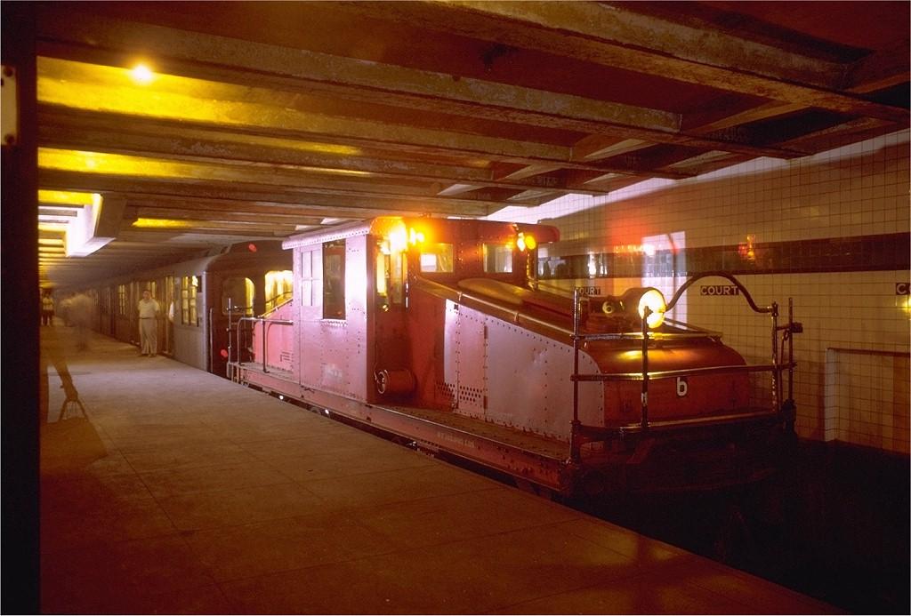 (180k, 1024x693)<br><b>Country:</b> United States<br><b>City:</b> New York<br><b>System:</b> New York City Transit<br><b>Location:</b> Court Street (Future Transit Museum)<br><b>Route:</b> Fan Trip<br><b>Car:</b> SBK Steeplecab 6 <br><b>Photo by:</b> Joe Testagrose<br><b>Date:</b> 8/23/1969<br><b>Viewed (this week/total):</b> 11 / 15910