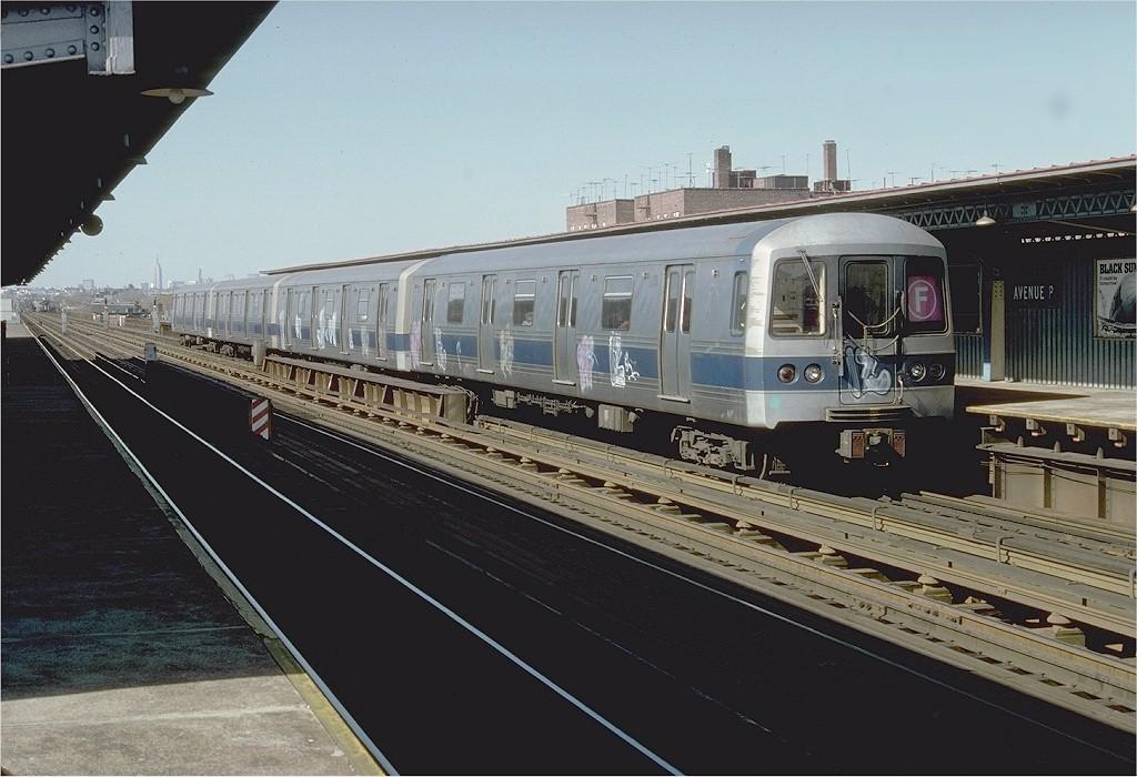 (185k, 1024x700)<br><b>Country:</b> United States<br><b>City:</b> New York<br><b>System:</b> New York City Transit<br><b>Line:</b> BMT Culver Line<br><b>Location:</b> Avenue P <br><b>Route:</b> F<br><b>Car:</b> R-44 (St. Louis, 1971-73) 228 <br><b>Photo by:</b> Doug Grotjahn<br><b>Collection of:</b> Joe Testagrose<br><b>Date:</b> 4/9/1977<br><b>Viewed (this week/total):</b> 2 / 4576
